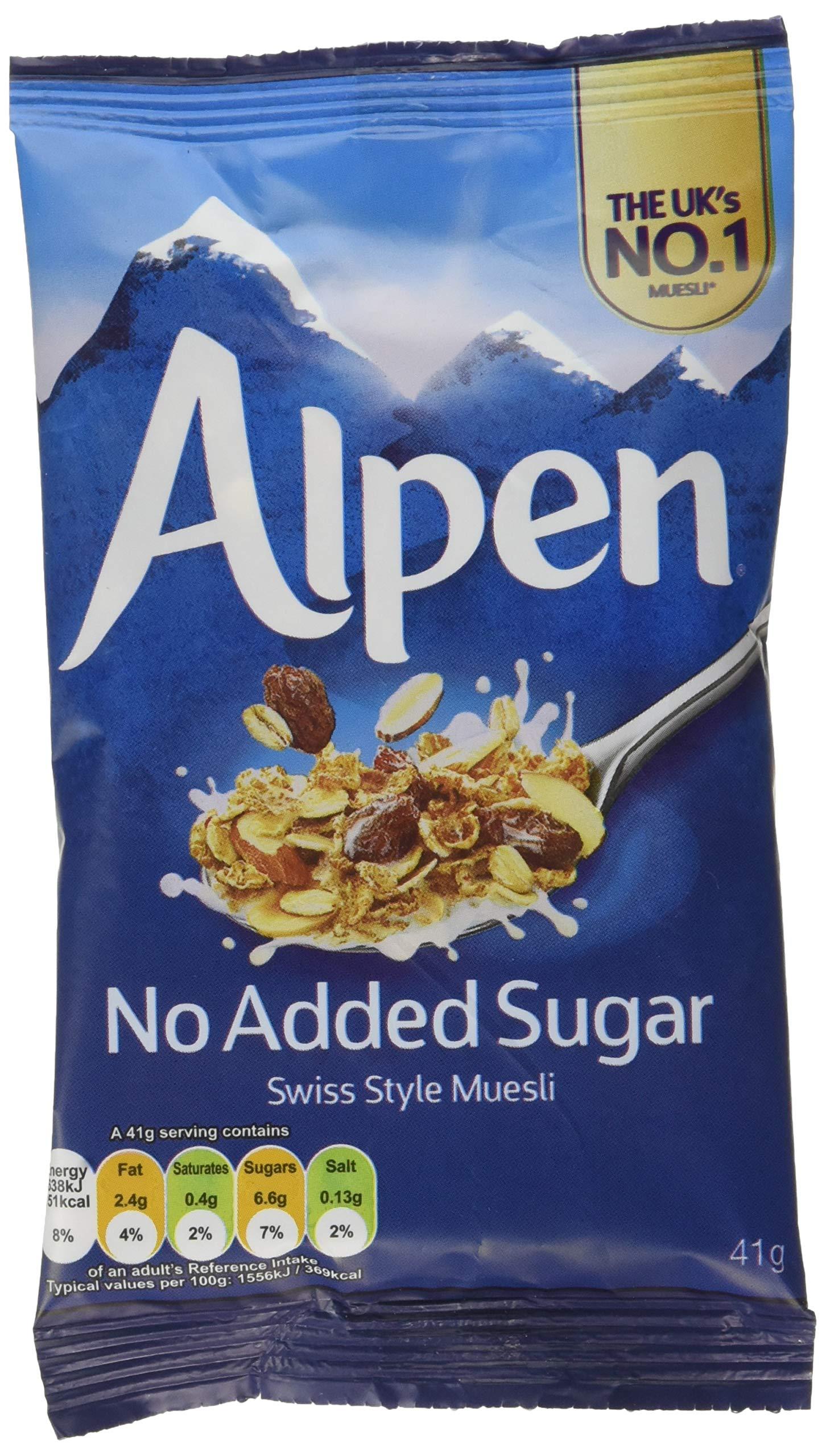 AlpenNoAddedSugarSwissStyleMuesliSachets,41g (Pack of 30)