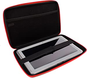 DURAGADGET Red Case Cover with Zips & Inside Pocket - Compatible with Acer Iconia Tab A510 Olympic Edition | Iconia Tab A500