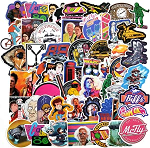 Decal Stickers 50 PCS Back to The Future Laptop Sticker Waterproof Vinyl Stickers Car Sticker Motorcycle Bicycle Luggage Decal Graffiti Patches Skateboard Sticker (Back to The Future)
