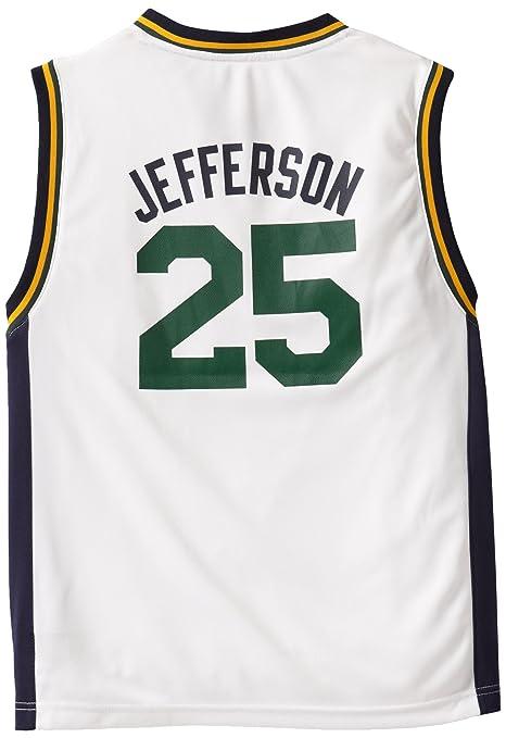 Amazon.com   NBA Utah Jazz Al Jefferson Youth 8-20 Replica Home ... 2ebebaa55