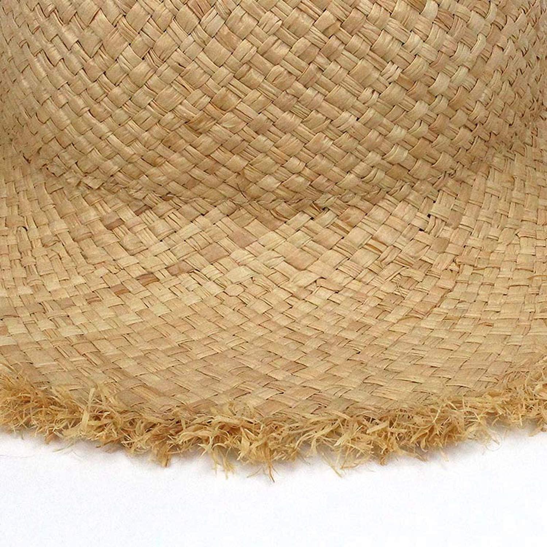 Hufong Child Girls Boy Straw Sun Hat Kids Large Brim Beach Summer Children Boater Beach Hat 50Cm