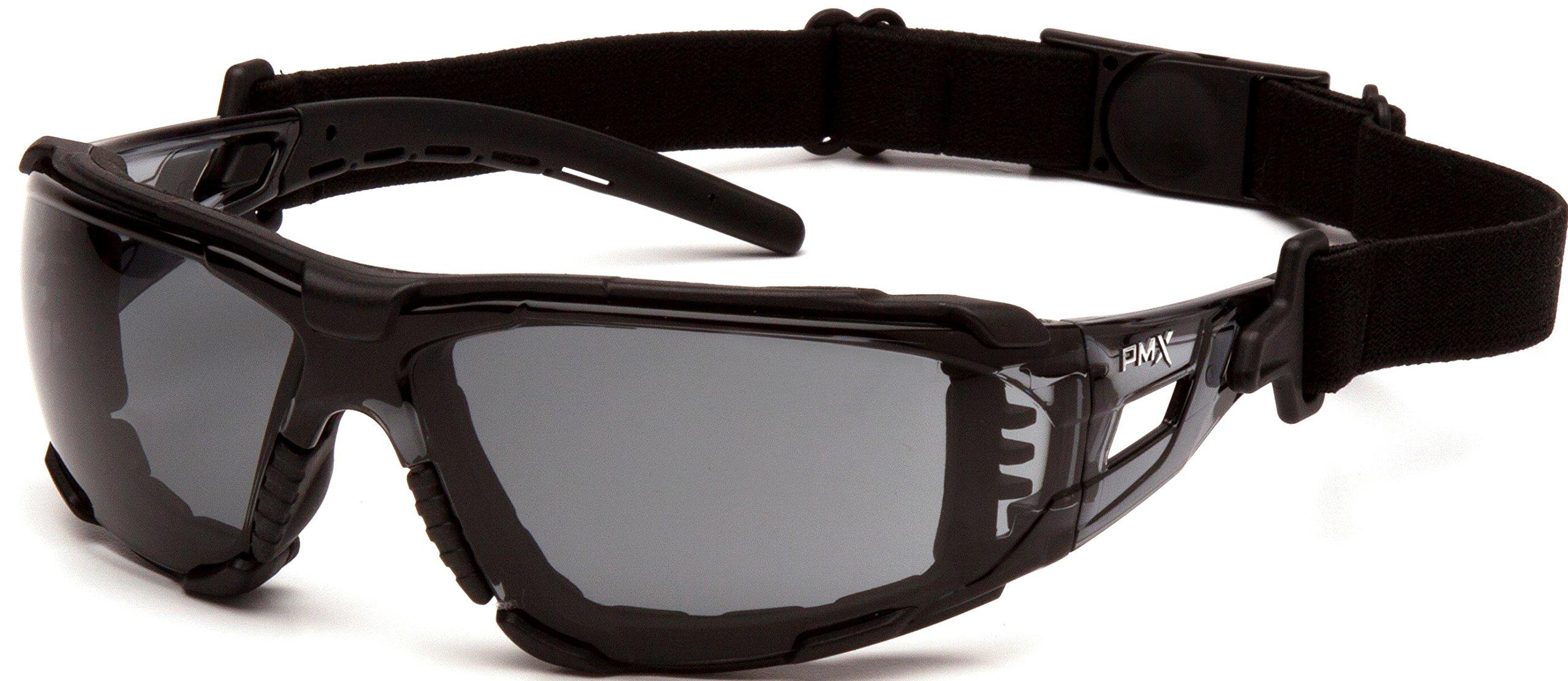 Pyramex Safety SB10220STMFP Fyxate Safety Glasses, Gray H2MAX Anti-Fog with Foam Padding
