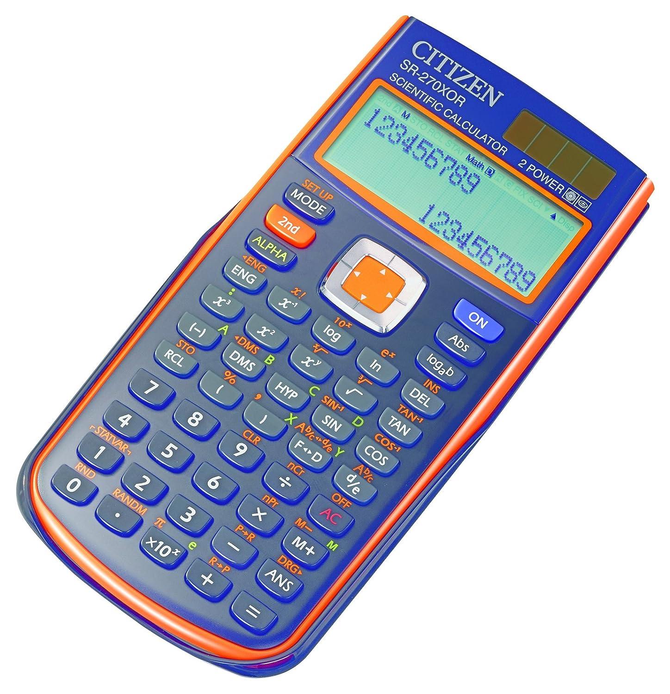 Citizen SR-270X Tasca Calcolatrice scientifica Nero, Arancione calcolatrice SR270XOR 60485883