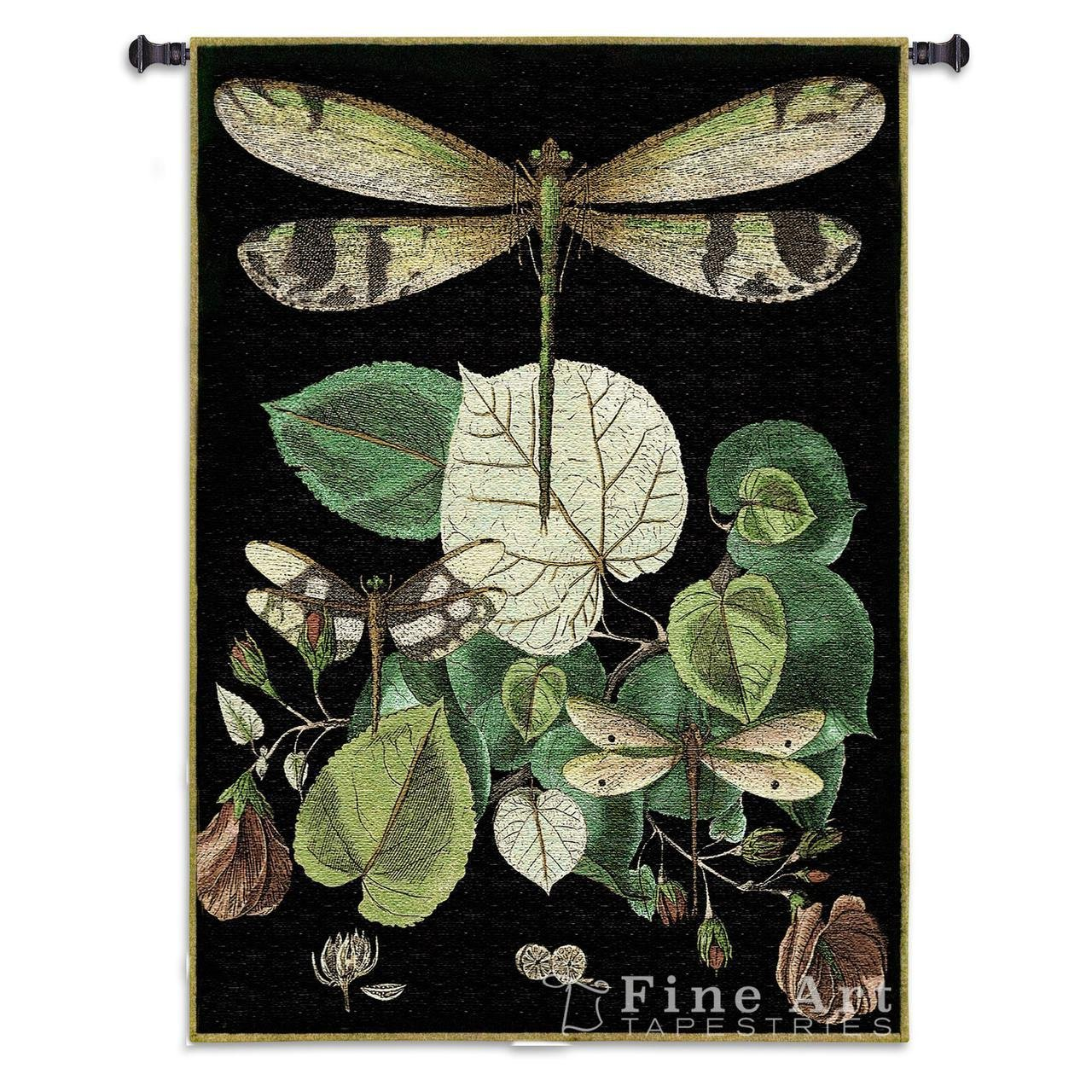 Fine Art Tapestries ''Whimsical Dragonfly II'' Wall Tapestry by Fine Art Tapestries