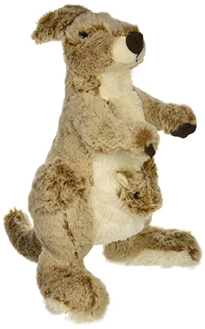 Amazon Com Fiesta Toys Kangaroo With Baby In Pouch Plush Stuffed