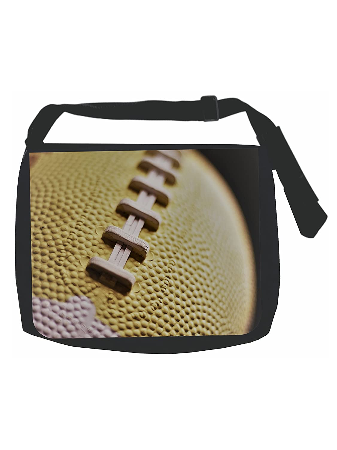 Black Laptop Shoulder Messenger Bag and Small Wire Accessories Case Set Football