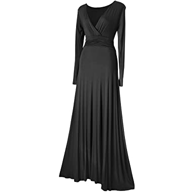Look for the Stars Damen Maxi Kleid (36, Schwarz)
