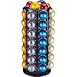 Coffee Vertuo Pod Holder Carousel Stand for Nespresso Vertuo Capsule Storage Organizer with Extra Space for Coffee Mate Silen