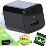 Hidden Camera - [Night Vision] - Mini Spy Camera with Audio - USB Hidden Camera - HD 1080p Nanny Cam - Motion Detection - Wireless Surveillance - Security System