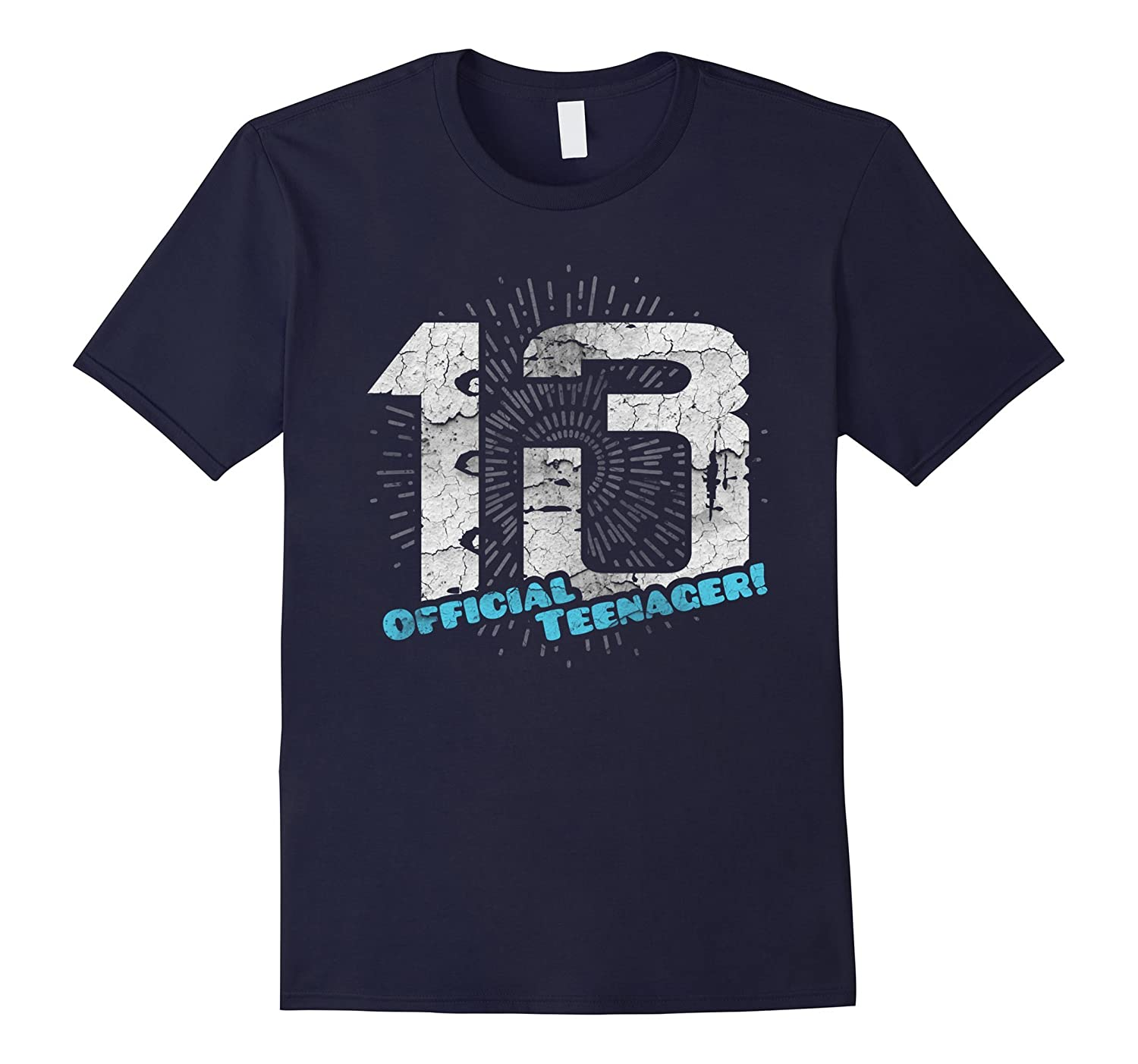 Official Teenager Funny 13 Thirteenth Birthday Gift T-Shirt-RT