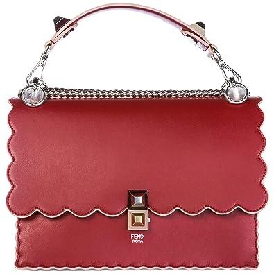 88c16468cffb Fendi Kan I sac porté épaule femme rosso  Amazon.fr  Chaussures et Sacs