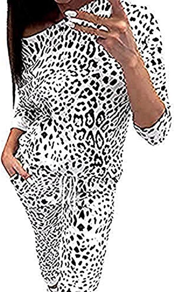 Mxjeeio 💖 Chándal para Mujer, Estampado de Leopardo de Camuflaje ...