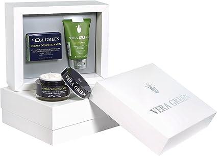 Vera Green Pack Regalo Cremas de Aloe Vera Facial y Corporal para ...