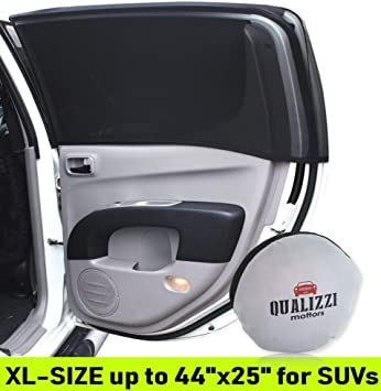 Car Window Shades >> Xl Car Window Sun Shades For Suvs Windows Up To 44 X 25 Mesh Shade Socks Shadesox For Baby