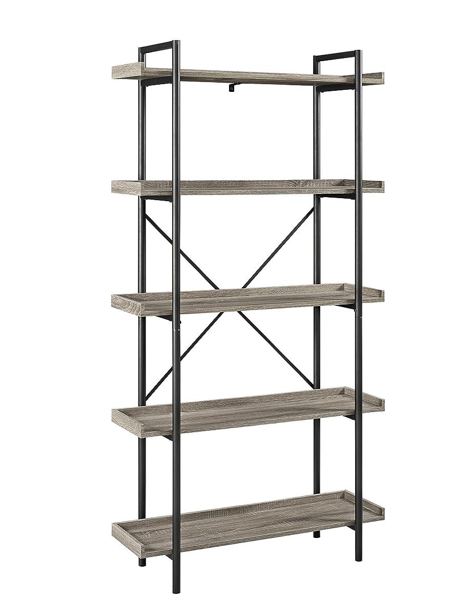 "WE Furniture 68"" Urban Pipe Bookshelf - Driftwood"