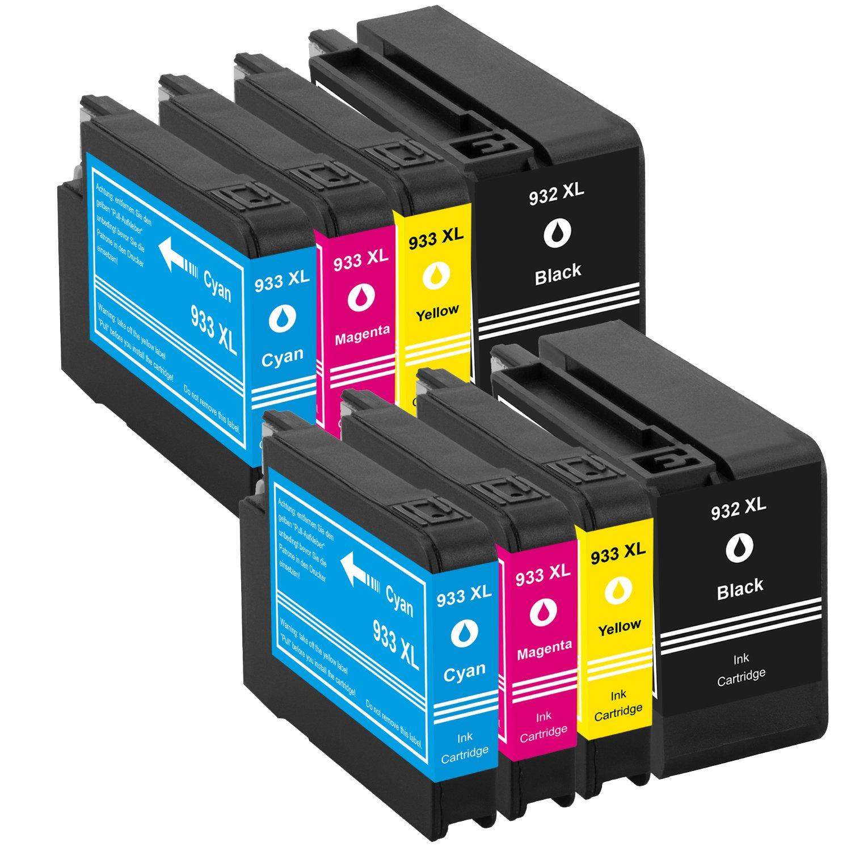 platinumserie 8 cartuchos de tinta XXL compatible para HP 932 XL y ...