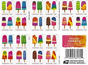 Frozen Treats - 2018 USPS Forever First Class Postage Stamp Scratch-and-Sniff Sheets U.S. Forever 50 Cents (4 Books of 20 Stamps)