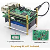 SunFounder Raspberry Pi 4000mAh 5V/2A Lithium Battery Power Pack Expansion Board-Plus Power Module for Raspberry Pi 3,2 Model B and 1 Model B+