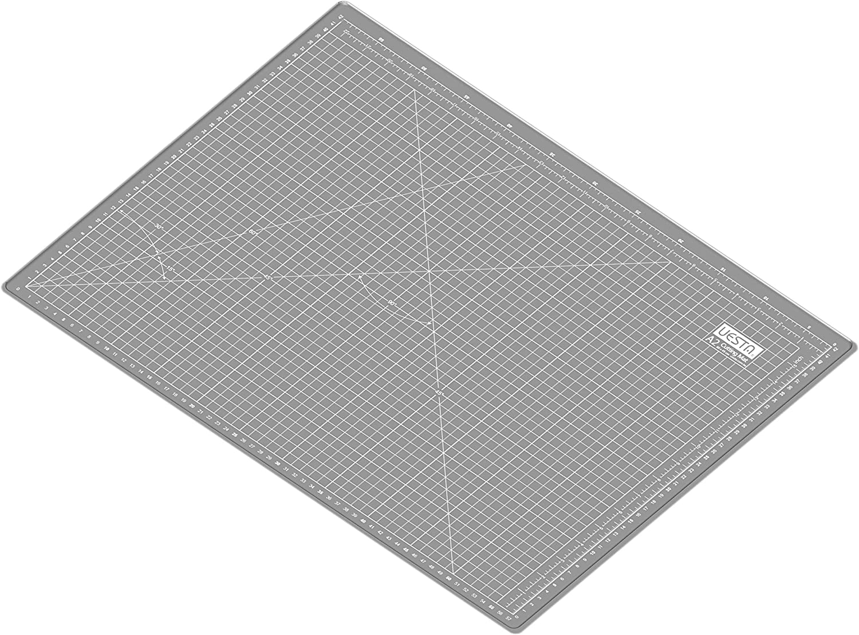 UESTA A2 600 x 450 mm Gray 24L x 18W Inch 5 Layers PVC Colorful Self Healing Cutting Mat