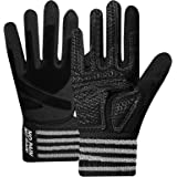Weightlifting Workout Gloves Full Finger with Wrist Strap Support, Padded Grip for Weight Lifting Gym Fitness Exercise Traini