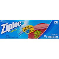 Ziploc Freezer Quart Bags, 20ct