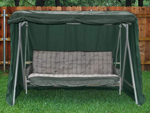 Covermates Canopy Swing Cover 86W x 50D x 70H Classic 12-Gauge Vinyl Rustproof Zipper and Grommets Mesh Vent for Breathability 2 YR Warranty Weather Resistant – Green