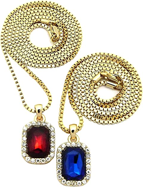Gold-Tone NYFASHION101 Paved Jesus and Baby Prayer Angel Pendant Necklace Set with 2mm 30 Box Chains