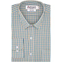 Arihant Men's 100% Cotton Checkered Party Wear Full Sleeves Regular Fit Formal Shirt for Men
