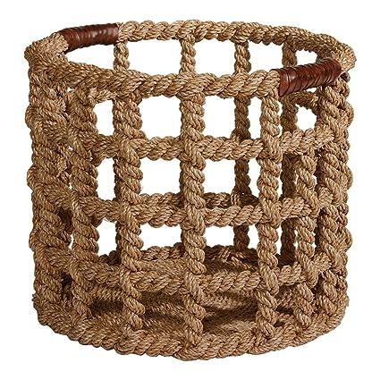 Charmant Ethan Allen Bailey Island Floor Basket