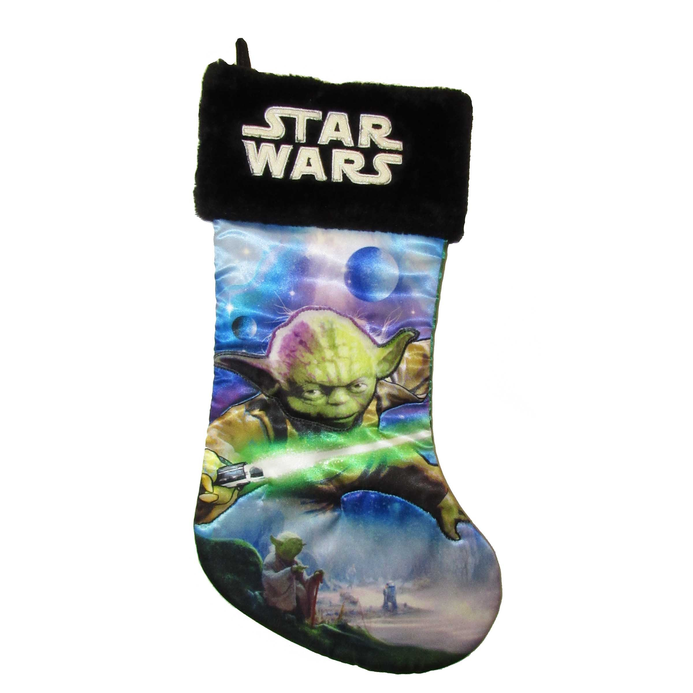 Star Wars Yoda 19'' Applique Stocking