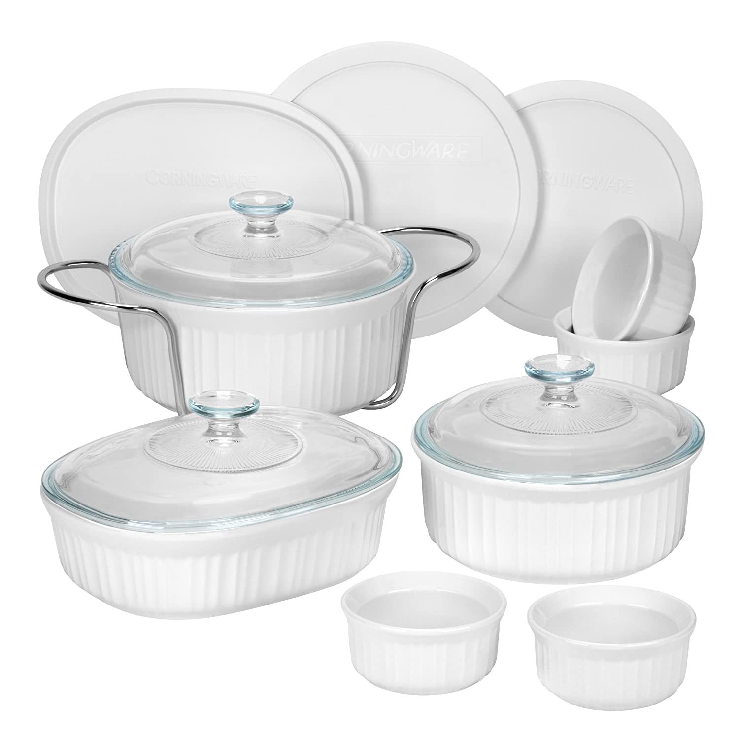 CorningWare 1083955 French 14-Piece Bakeware Set, White World Kitchen (PA)