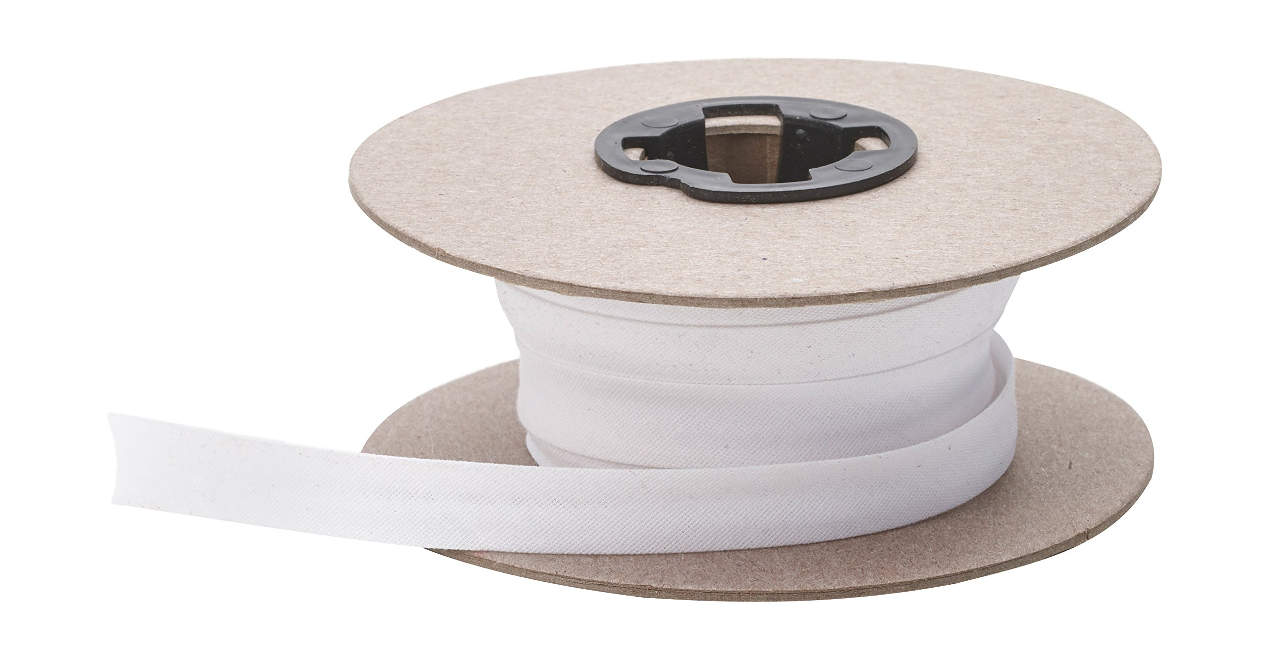 Pearl Double Fold Bias, 15 yd, White by Pearl