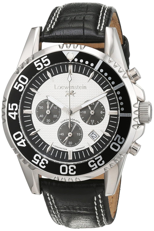 LÖwenstein Herren-Armbanduhr Analog Automatik Leder LO-HQ22015-912W