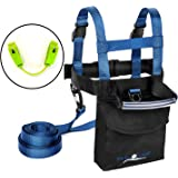 Lucky Bums Toddler and Kids Fall Line Ski Trainer Harness and Easy Wedge Ski Tip Connector Kit