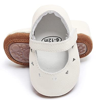 8113450629c0e Bebila Heart Style Baby Girls Shoes Leather Baby Moccasins Rubber Sole  Princess Dress Ballet First Walking