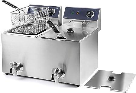 Lacor 69469 69468-Freidora eléctrica Doble con Grifo Profesional 3250 W (x2), 16 L, Acero Inoxidable: Amazon.es: Hogar