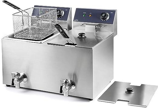 Lacor 69469 69468-Freidora eléctrica Doble con Grifo Profesional ...