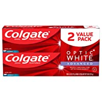 Colgate Optic White Advanced Teeth Whitening Toothpaste, Icy Fresh - 4.5 ounce (...