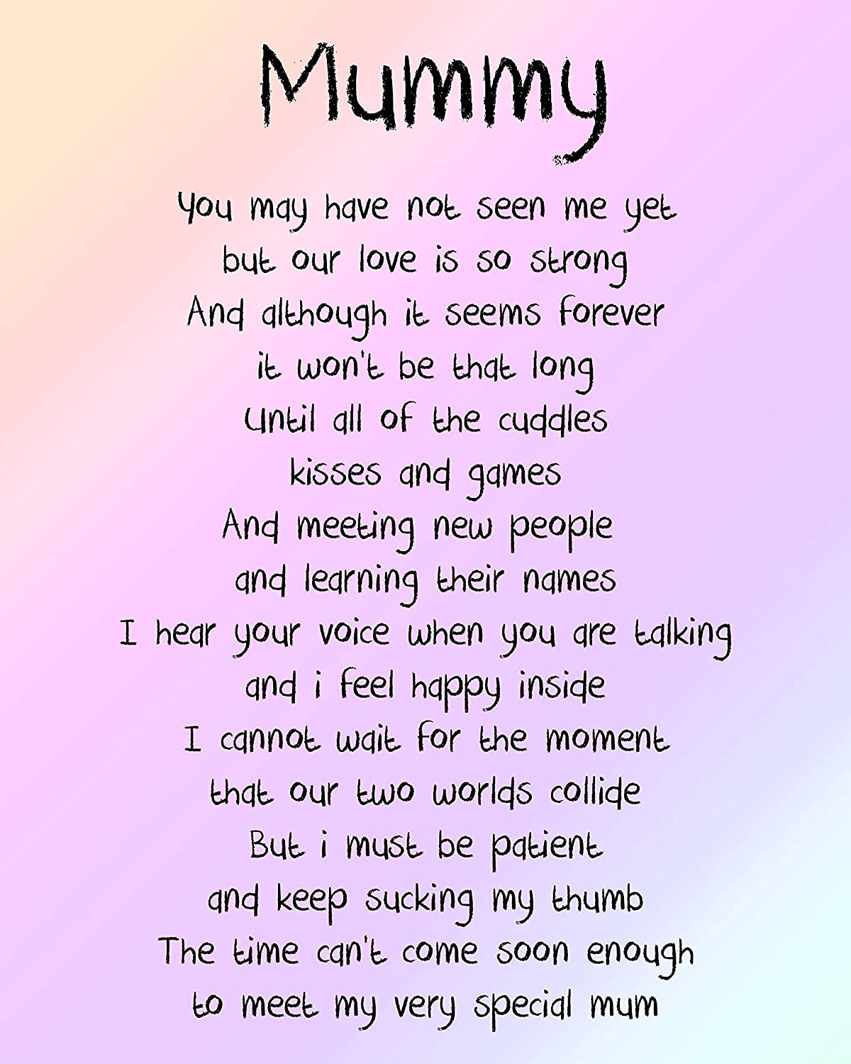 Mummy Love From The Bump Poem 10x8 Picture With Optional Frame Ideal Birthday Mother S Day Gift P3 Unlaminated Amazon Co Uk Kitchen Home 40 short mothers' day poems to wish your mom. mummy love from the bump poem 10x8 picture with optional frame ideal birthday mother s day gift p3 unlaminated