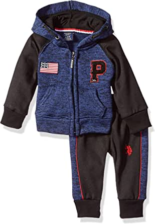 U.S. POLO ASSN. Baby Boy's Fleece Jog Set Pants