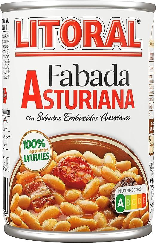 Litoral Plato Preparado de Fabada Asturiana, sin Gluten, 435g