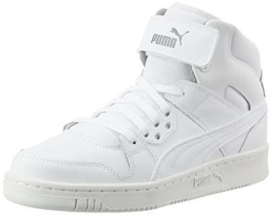 Puma Unisex Puma Rebound Street L White and White Sneakers - 10 UK