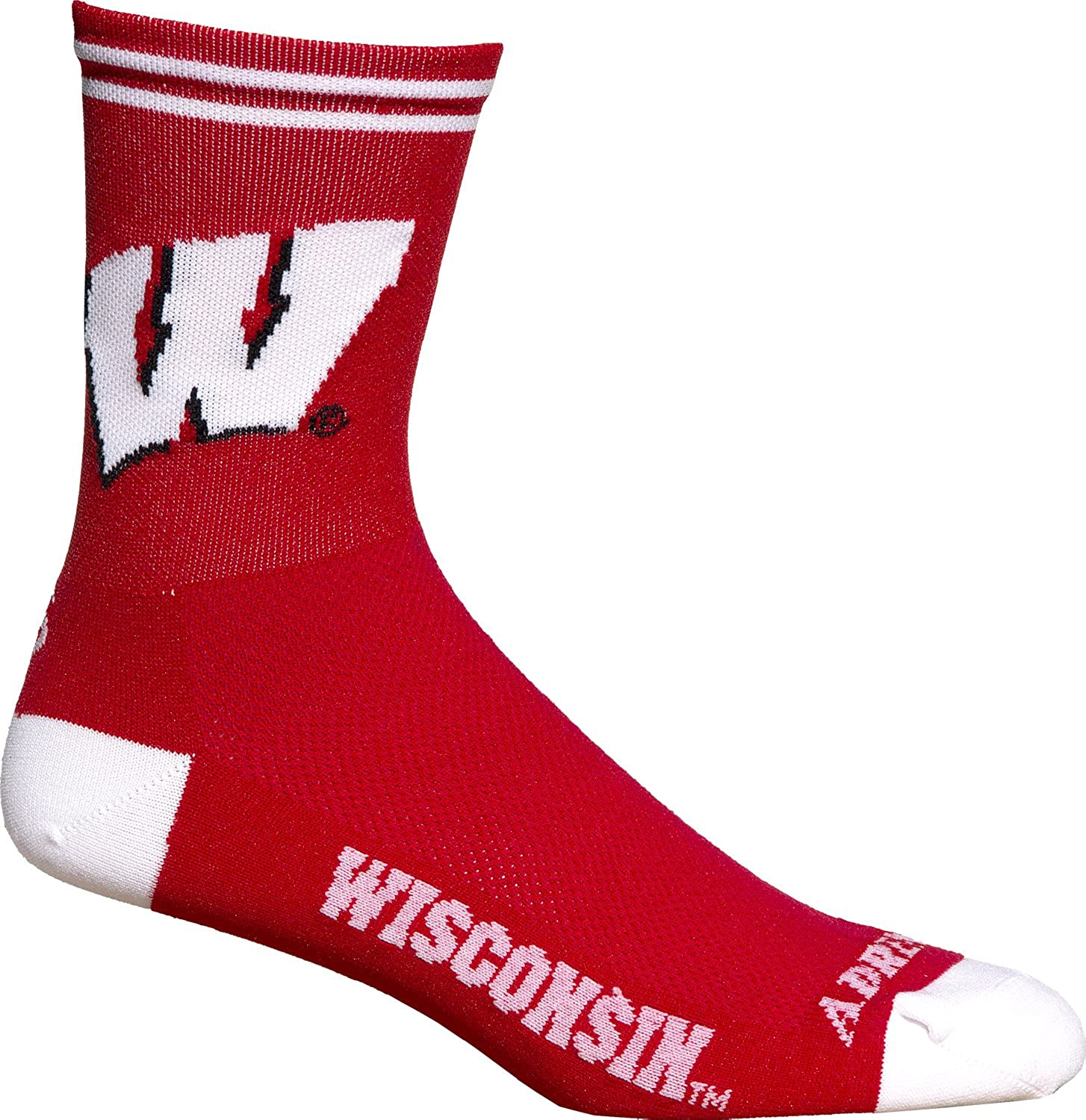 Adrenaline Promotions NCAA Wisconsin Badgers Cycling//Running Socks