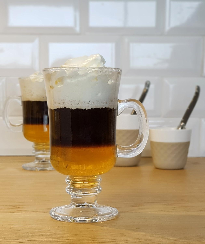 Cookut Ico Irish Coffee - Juego completo de herramientas de capa especial para café irlandés en casa, ideal para cócteles de todas las capas: Amazon.es: ...