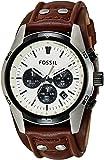 Fossil Men's Coachman CH2890 Brown Tpu Leather Quartz Watch