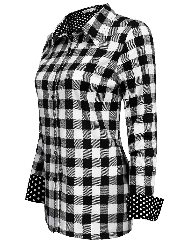 ed5a66e4 Juniors Plaid Button Down Shirts - DREAMWORKS