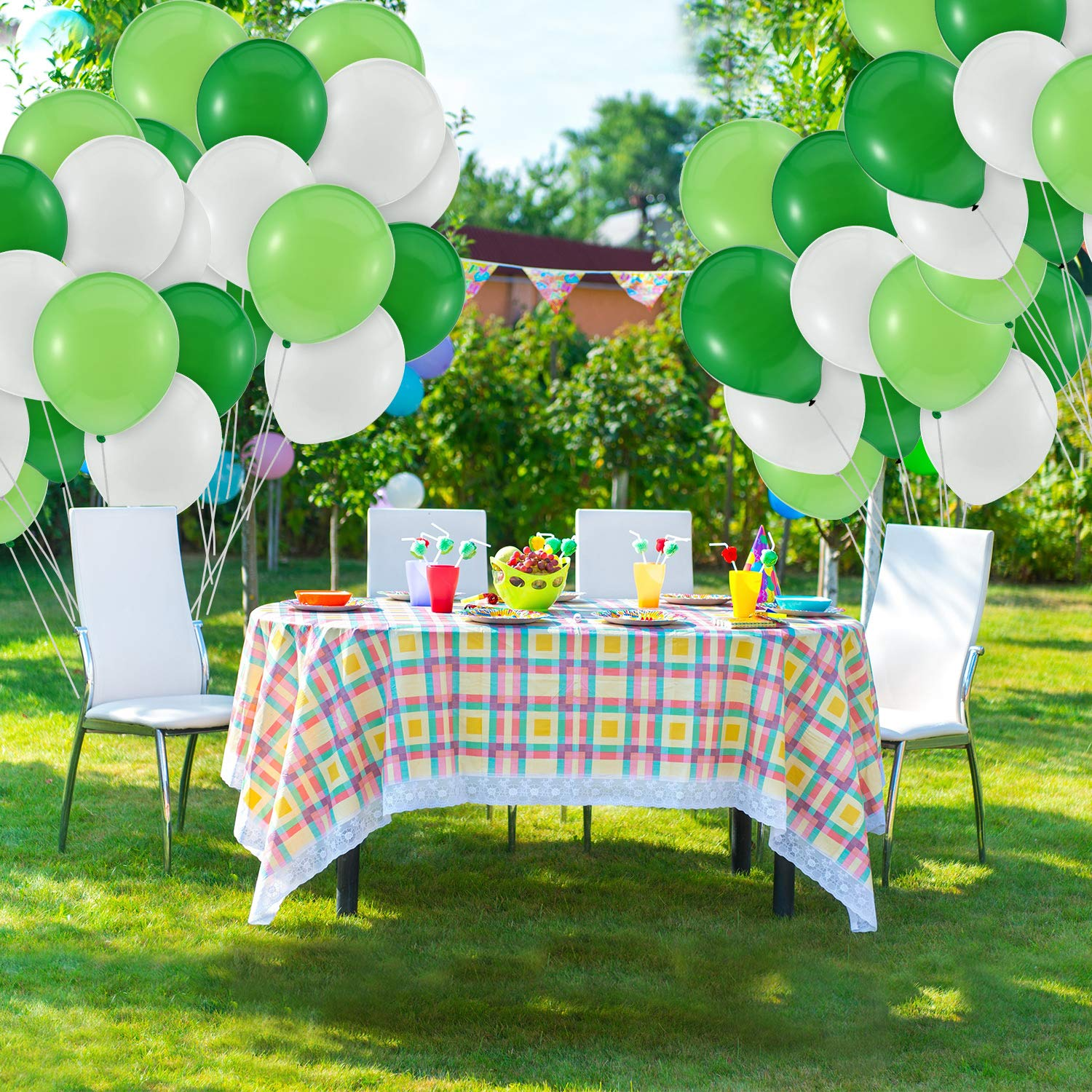 Amazon.com: 300 Pieces Green Balloons And White Green ...