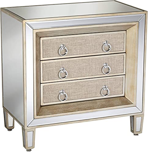 Mira 28 Wide 3-Drawer Mirrored Accent Table – 55 Downing Street