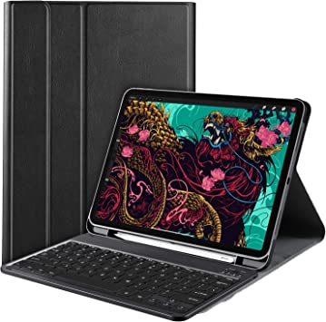 IVSO Teclado Estuche para iPad Pro 11 2020 (QWERTY English), Slim Stand Funda con Removible Wireless Teclado para iPad Pro 11 2020, Negro: Amazon.es: Electrónica