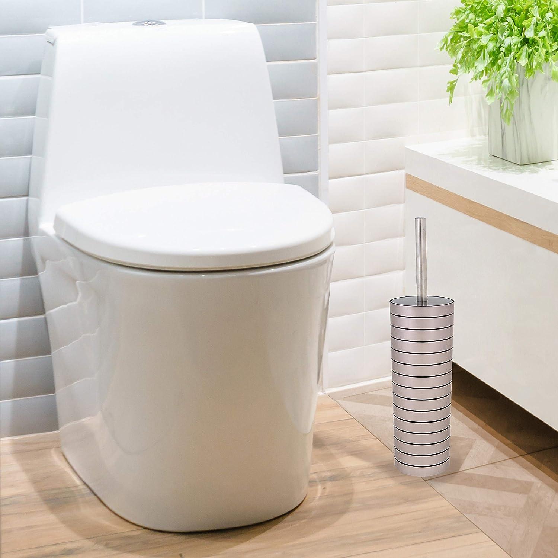 Amazon.com: Bath Bliss - Escobilla de inodoro, acero ...